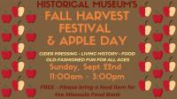 Historical Museum Fall Harvest Festival & Apple Day