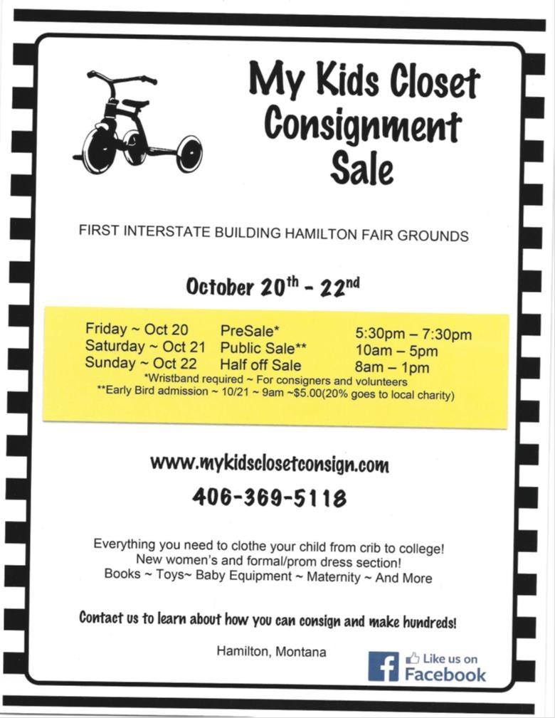 My Kids Closet Bi Annual Consignment Sale
