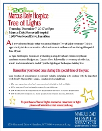 Marcus Daly Hospice Tree of Lights