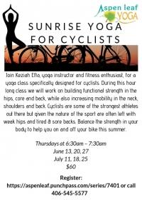 Sunrise Yoga for Cyclists
