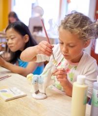 Kids ceramic paint day