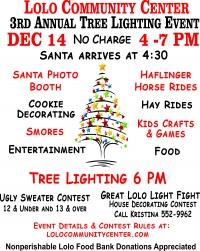 3rd Annual Tree Lighting - Lolo Community Center