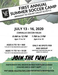 Valley Elite F.C. Summer Soccer Camp (Ages 6-14)
