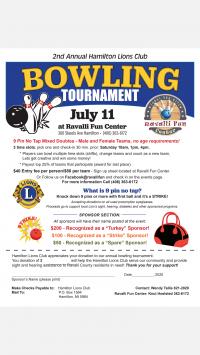 2nd Annual Hamilton Lions Club Bowling Tournament