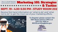Marketing 101 - Strategies & Tactics (SBA Class)