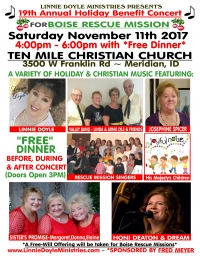 19th Holiday Benefit Concert for Boise Rescue Mission