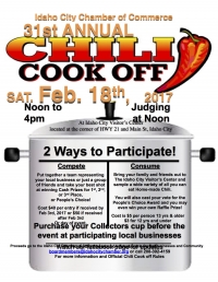 31st Annual Idaho City Chili Cook Off
