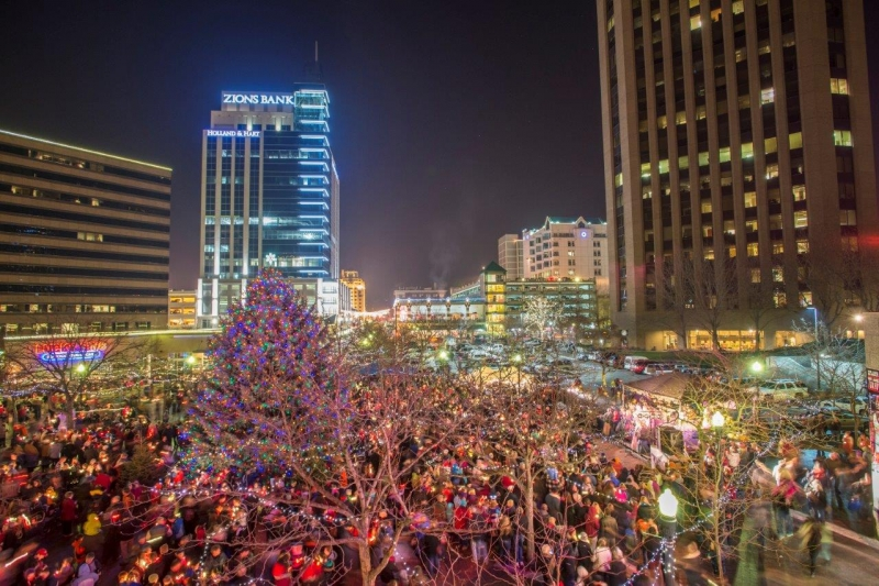 Boise Christmas Tree Lighting 2019 Downtown Boise Holiday Tree Lighting 11/29/2019 Boise, Idaho, The