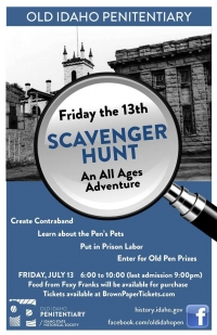 Friday the 13th Scavenger Hunt