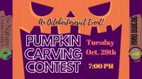 Oktoberforest Pumpkin Carving Contest!