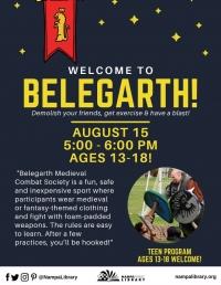 Teen Program - Belegarth Medieval Combat
