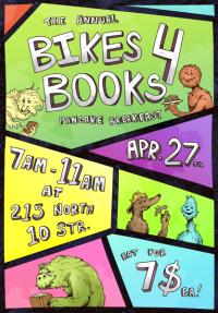 Bikes 4 Books pancake breakfast