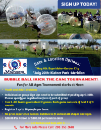 Bubble Ball Pick Your Cause Tournament