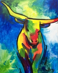 Twigs x Paint 'n Sip : Colorful Bull