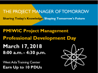 Join us for the PMIWIC Prof Dev Day 3/17/18