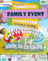 2nd annual Summer Fun Family Event at Kleiner Park