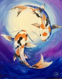 Hyde Perk x Paint 'n Sip : Koi Moon