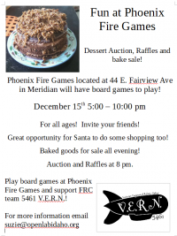 Games and Dessert at Phoenix Fire Games!