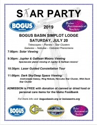 Bogus Basin Star Party 2019