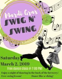 Mardis Gras Swig N' Swing!