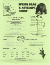 Spring Bear & Antelope Archery Shoot