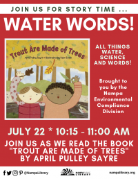 Water Words Storytime