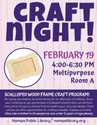 Scalloped Wood Frame Craft