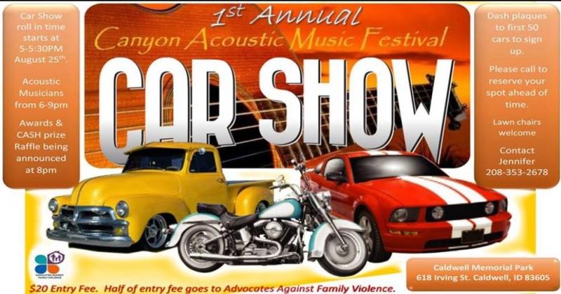 St Annual Canyon Acoustic Music Festival Car Show - Car show chairs