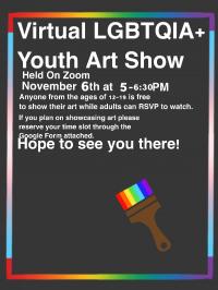 Virtual LGBTQIA  Youth Art Show