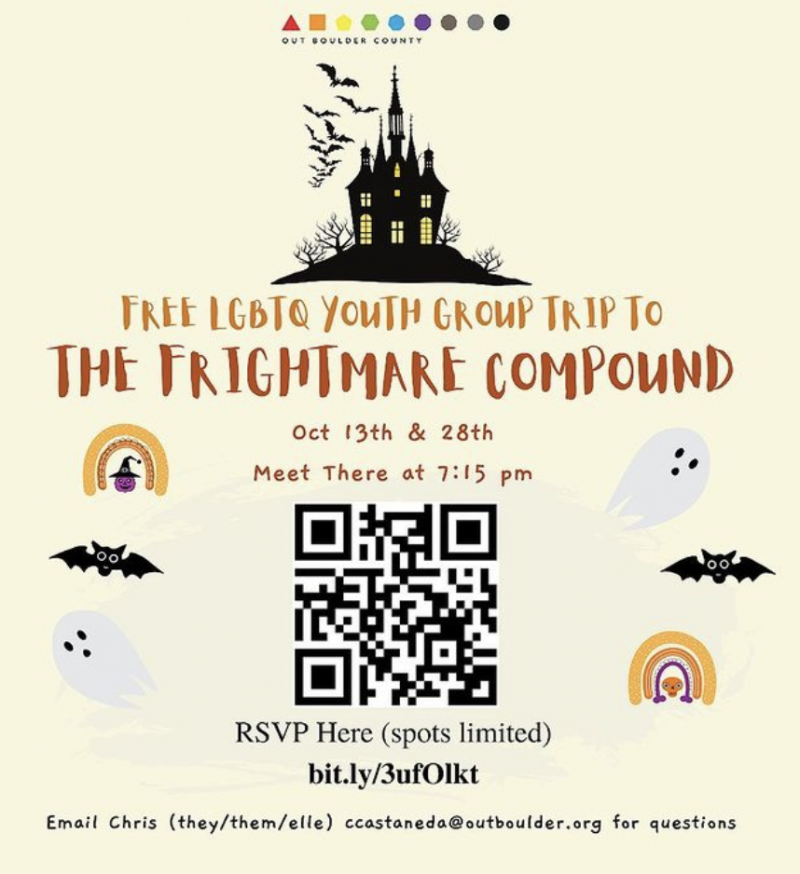 FREE LGBTQ Youth Group Trip to the Frightmare Compound