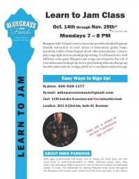 Bluegrass Learn to Jam Class