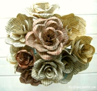 Bozeman Public Library Book Page Flower Crafternoon