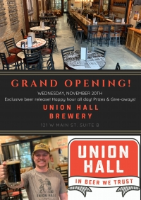 Union Hall Brewery Grand Opening