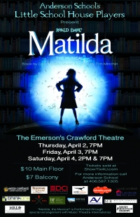 Matilda, the Musical by Anderson School