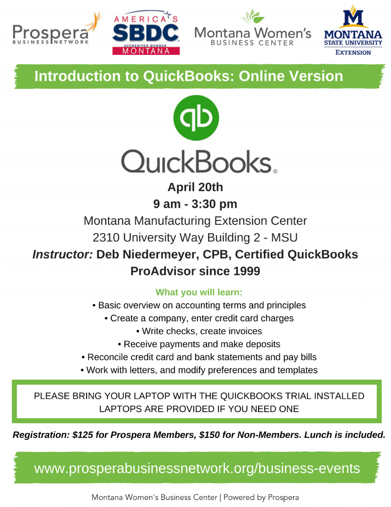 Introduction to QuickBooks: Online Version 04/20/2017