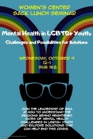 Sack Lunch Seminar: Mental Health in LGBTQ  Youth