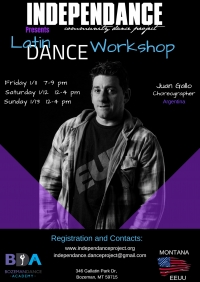 Latin Fusion Dance Workshop with Juan Gallo