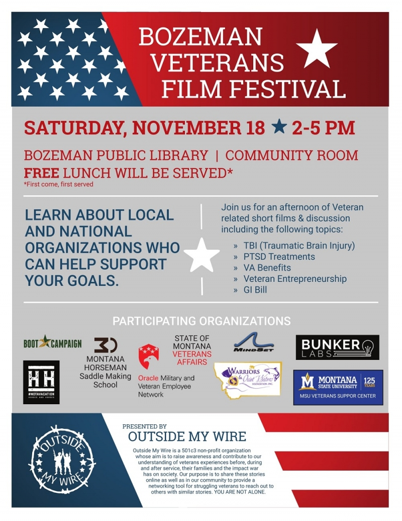 Bozeman Veterans Film Festival 11/18/2017 Bozeman, Montana