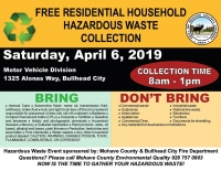 Free Residential Household Hazardous Waste Collection