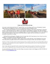 Walk Away from Drugs & 5K Run
