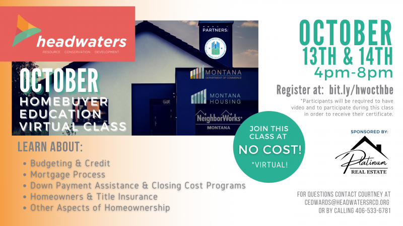 October First-Time Homebuyers Education Class