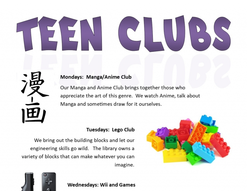 BSBPL Teen's Clubs: Manga/Anime