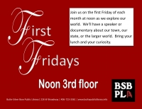 First Fridays: And Yet They Persisted