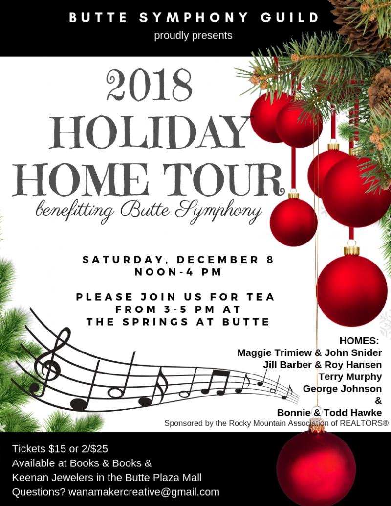 Butte Symphony Guild Holiday Home Tour 12/08/2018 Butte, Montana ...