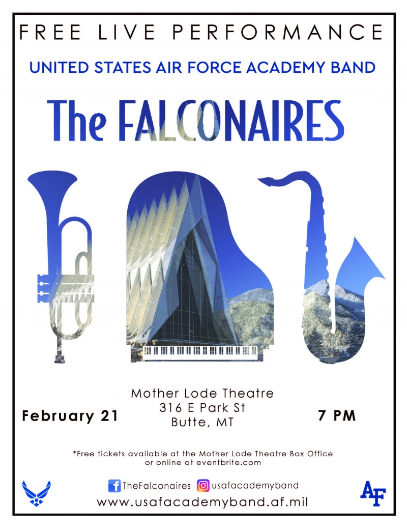 FREE CONCERT: Air Force Academy Big Band: Falconaires 02/21/2019