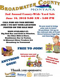2nd Annual Broadwater CountyWide Yard Sale & Flea Markt