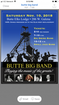 Butte Big Band - Elks Roof Fundraiser