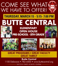 Butte Central Preschool through Junior High Open House