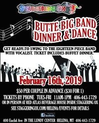 Butte Big Band Dinner & Dance in Helena