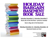 Holiday Bargain Basement Book Sale